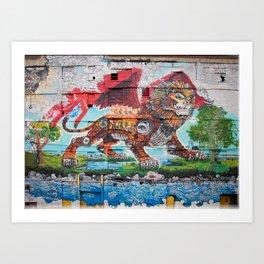 Detroit Chimera ( kī-ˈmir-ə ) Art Print
