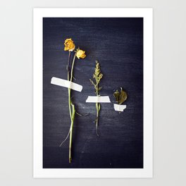 bouquet dissected Art Print