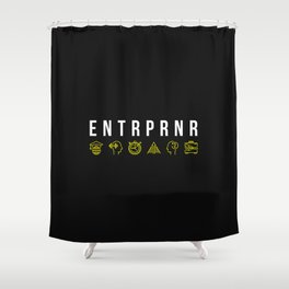 ENTRPRNR - Entrepreneur with Icons Shower Curtain