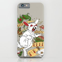 Feed My Rabbit iPhone Case