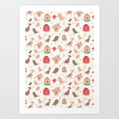 Birds pattern Art Print