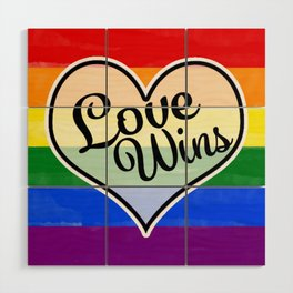 Pride Flag Love is Love-Water Color Graphic  Design  Wood Wall Art