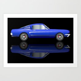 Very Fast Car Art Print