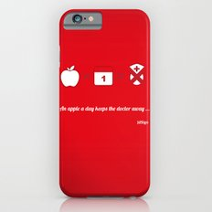 An apple a day keep the doctor away iPhone 6s Slim Case