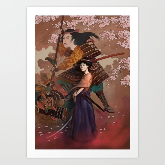 The Spirit of Tomoe Gozen Art Print