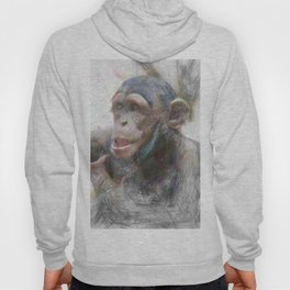 Artistic Animal Young Chimp Hoody