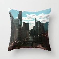 Chicago River View Throw Pillow