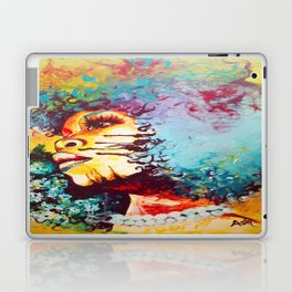 Unstrained Afro Blue Laptop & iPad Skin