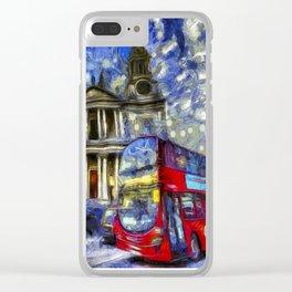 Vincent Van Gogh London Clear iPhone Case