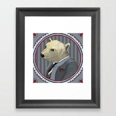 Mr. Polar Bear Framed Art Print