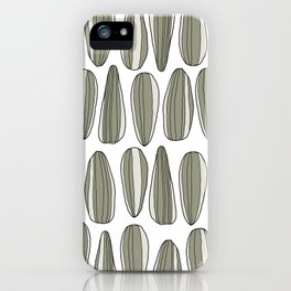 sunflower seeds iPhone Case