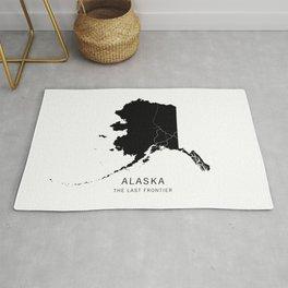 Alaska State Road Map Rug