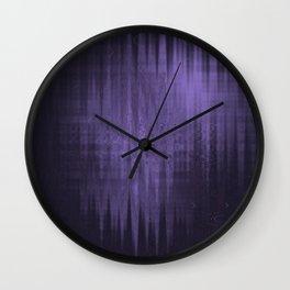 Random weird looking unclear, bright and shaky dark slate gray, dark slateblue and light slate gray Wall Clock