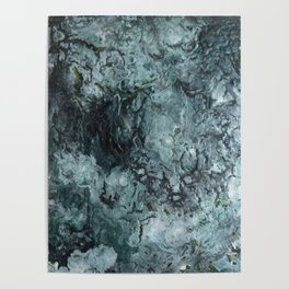 Green Pour Poster