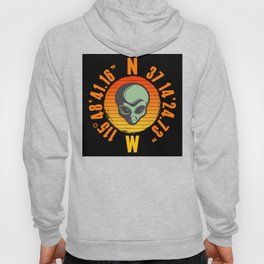 Alien Area 51 Geo Location Hoody