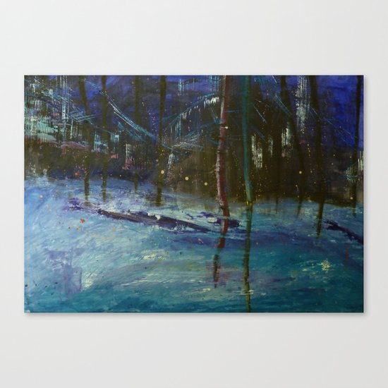 We got caught in a blizzard.. Canvas Print