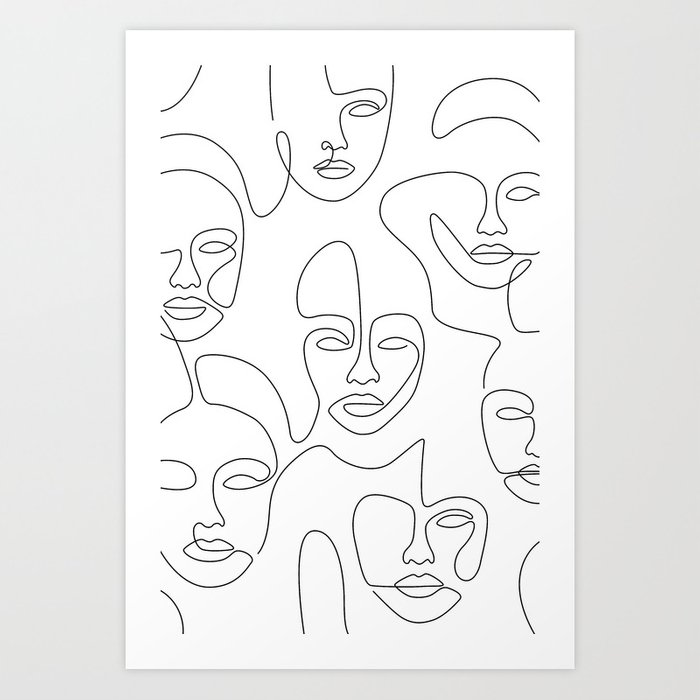 Beauty Portraits Art Print