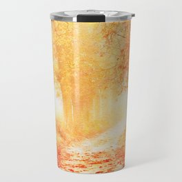 Autumnal forest watercolor painting #2 Travel Mug