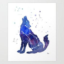 Galaxy Wolf Lupus Constellation Kunstdrucke