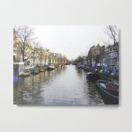 Winter in Amsterdam Metal Print