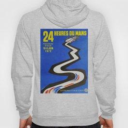24hs Le Mans, 1972, vintage poster Hoody