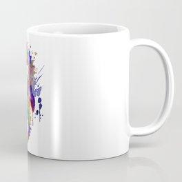 Colorful Seahorse Silhouette Coffee Mug