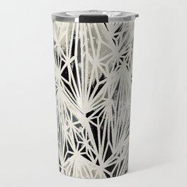 H. Fasciata Succulent Black White Print Travel Mug