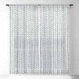 Knit Wave Grey Sheer Curtain