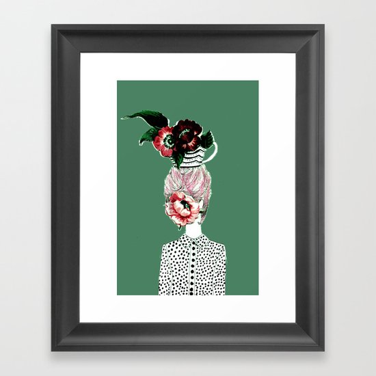 Tea Girl Framed Art Print