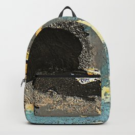 The Golden Path - an abstract, textured piece in neutrals by Jacob von Sternberg Art Backpack