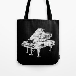 Black Piano Tote Bag