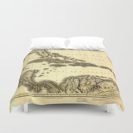 Map of the West Indies and Mexican Gulf (1806) Duvet Cover