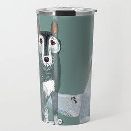 Totem Canadian wolf 1 Travel Mug