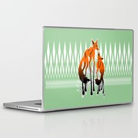 foxes Laptop & iPad Skins featuring Foxes by AmKiLi