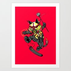 RobotiCAT Art Print