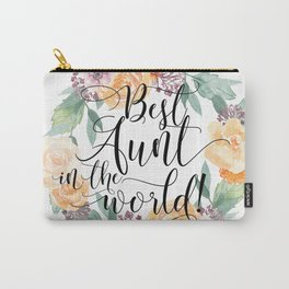 Best Aunt in the World Carry-All Pouch