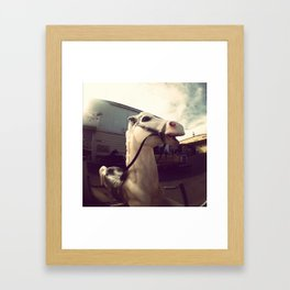 Vintage Toy Horse Framed Art Print