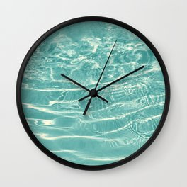 Turquoise Ocean Dream #1 #water #decor #art #society6 Wall Clock
