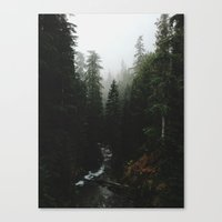 backpack Canvas Prints featuring Rainier Creek by Kevin Russ