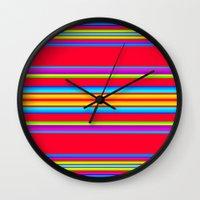 blanket Wall Clocks featuring Guatemalan Blanket by StudioBlueRoom