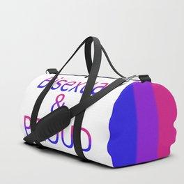 Bisexual and Proud (white bg) Duffle Bag