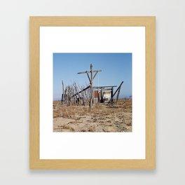 Makeshift Mexico Cross, 2007 Framed Art Print