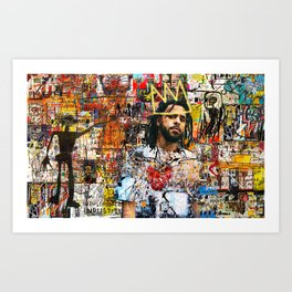 J.Cole Portrait Artwork Art Print