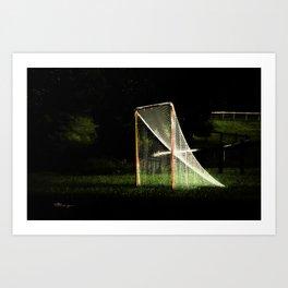 LACROSSE AT NIGHT: Orange Art Print
