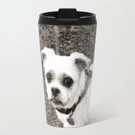 Molly black and white Travel Mug