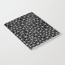 Connectivity - White on Black Notebook