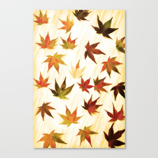 AUTUMN LEAVES PATTERN #3 #decor #art #society6 Canvas Print