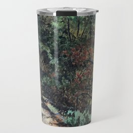 Lighted Path Through Green - Oil on canvas painting Travel Mug