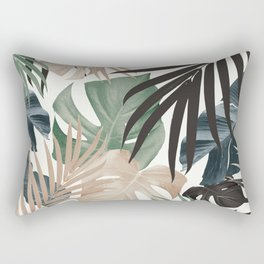 Tropical Jungle Leaves Pattern #13 (Fall Colors) #tropical #decor #art #society6 Rectangular Pillow