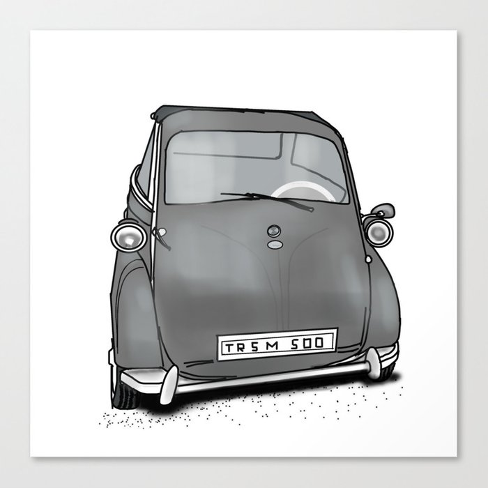 retro car . artwork Canvas Print